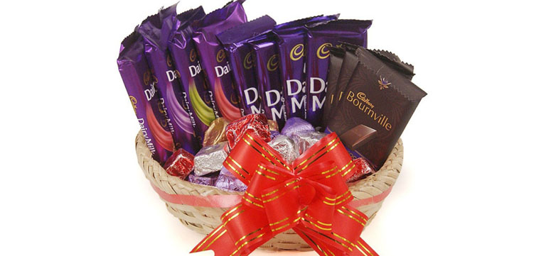 Loaded Basket with Chocolates