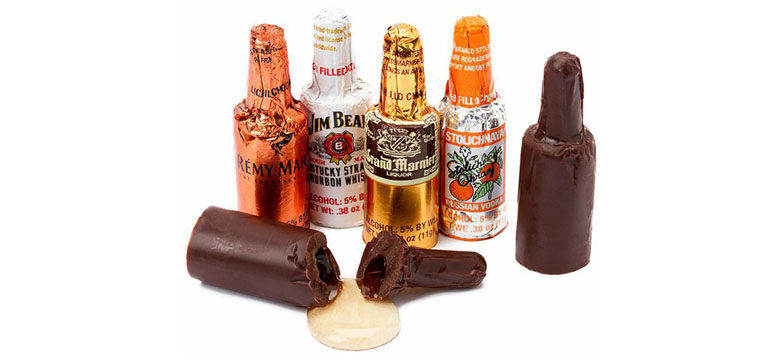The Chocolate bottles