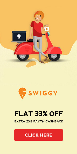 Swiggy Exclusive offer For New Users
