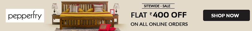 Flat Rs 400 OFF Pepperfry Furniture Coupon