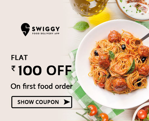 Swiggy Rs 100 OFF New Users Coupon Code