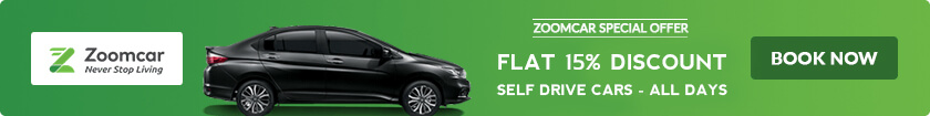 15% OFF Zoomcar offer on self drive cars